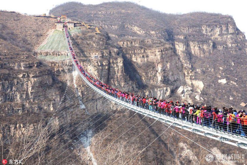 CHINA | Al doilea cel mai lung pod de sticlă din lume, închis din motive de siguranță
